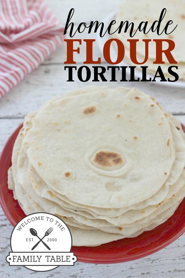 Easy Homemade Flour Tortilla Recipe