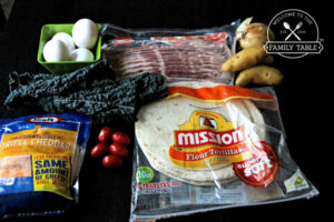 Homemade Mexican Breakfast Nachos - Ingredients