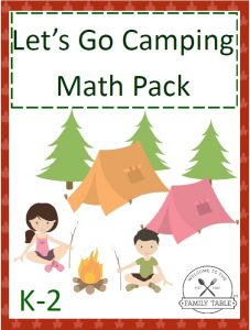 Let's Go Camping Math Pack