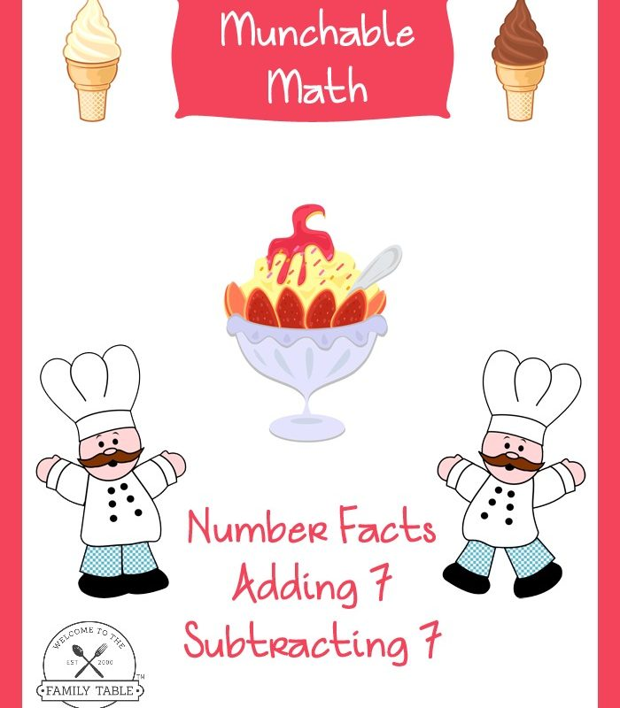 Free Elementary Math Worksheets: Munchable Math-Ice Cream
