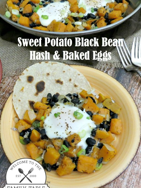 Sweet Potato Black Bean Hash & Baked Eggs
