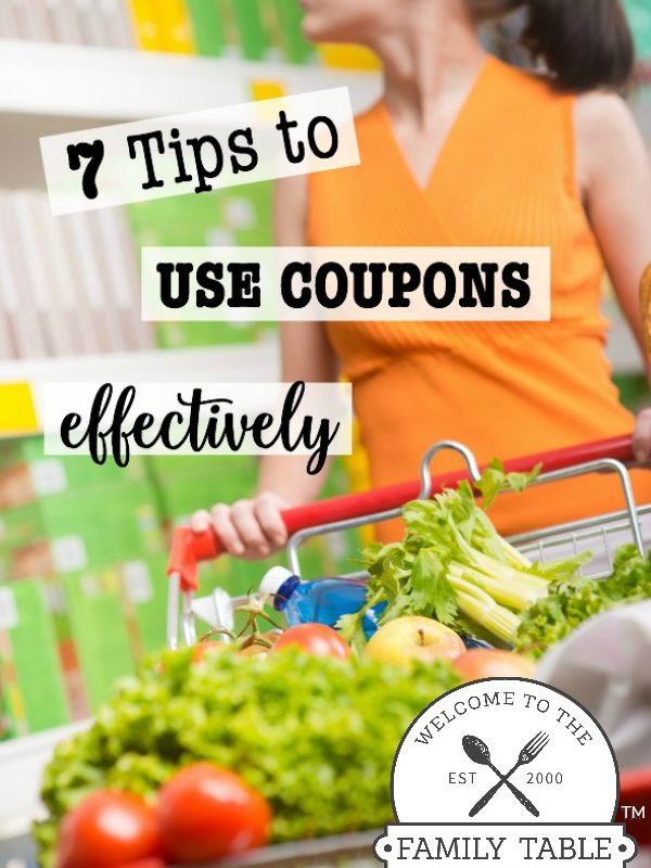 7 Tips to Use Coupons Effectively