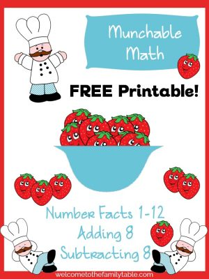Come grab your FREE munchable math strawberry packet today!