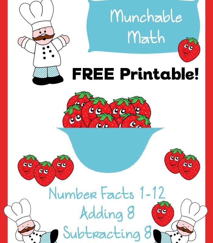 Free Elementary Math Worksheets: Munchable Math-Strawberries