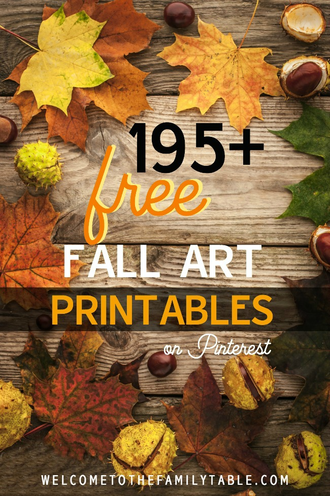 Looking for some free fall art printables? We've got you covered! We've found 195+ of the best free fall-themed printables on Pinterest!