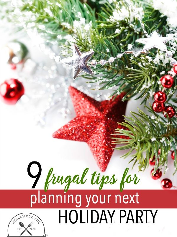 frugal tips for planning your next holiday party