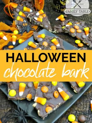 Are you looking for a fun treat to make for your next Halloween party? Try our Halloween chocolate Bark!
