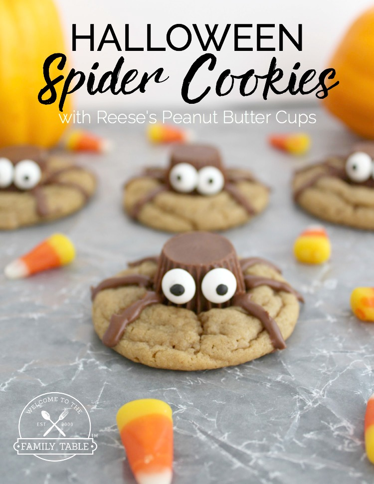 Halloween Spider Cookies with Reese's Peanut Butter Cups - Welcome ...