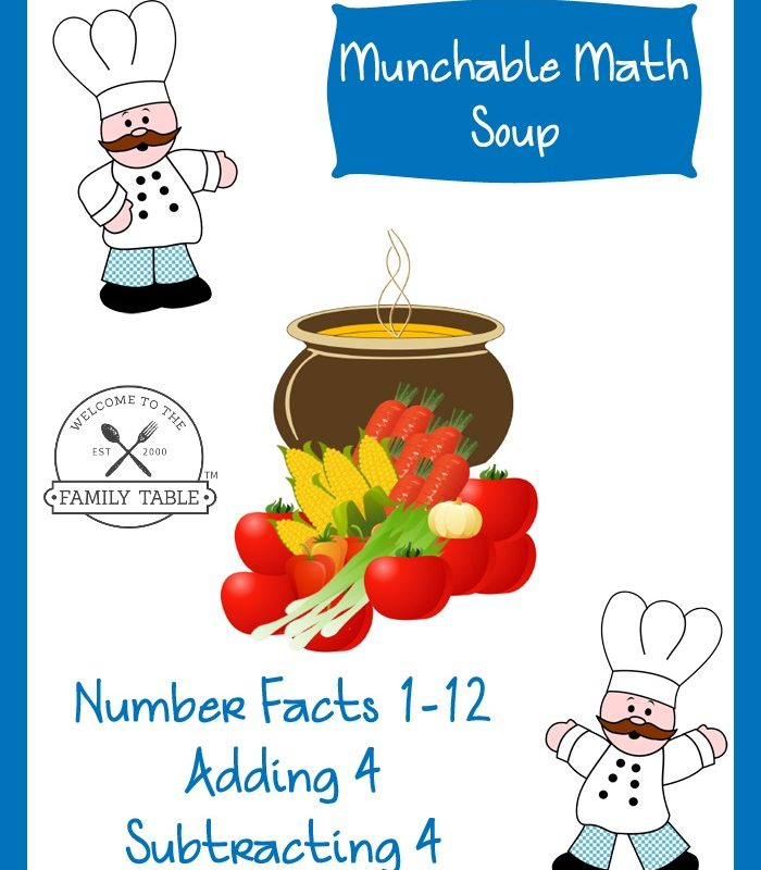 Free Elementary Math Worksheets: Munchable Math-Soup
