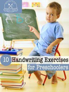0 Handwriting Exercises for Preschoolers