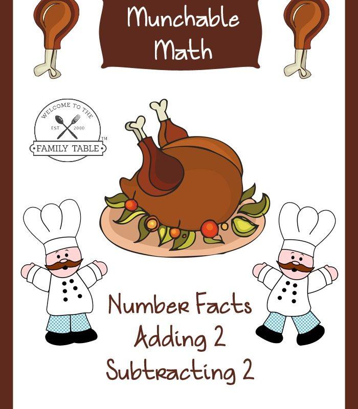 Free Elementary Math Worksheets: Munchable Math-Turkeys