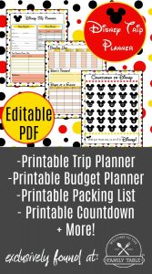 Planning a trip to Disney? Come grab our editable, printable Disney vacation planner today!