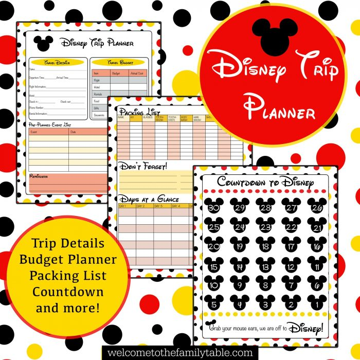 Free Printable Disney Vacation Planner