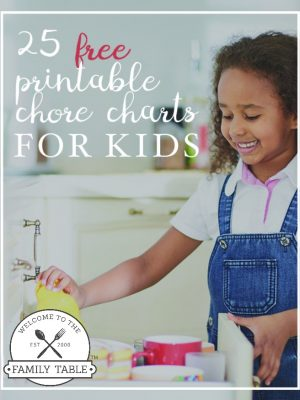25 Free Printable Chore Charts for Kids