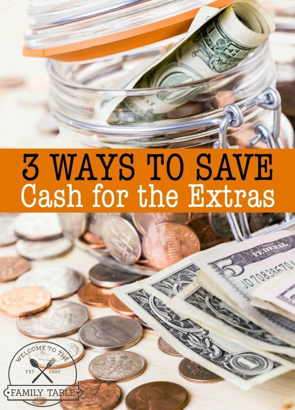 ways to save cash