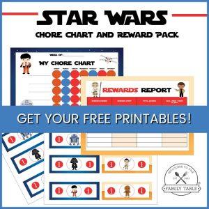 Free Star Wars Chore Chart