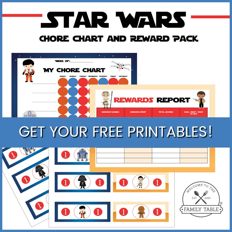 Free Star Wars Chore Chart & Reward Pack
