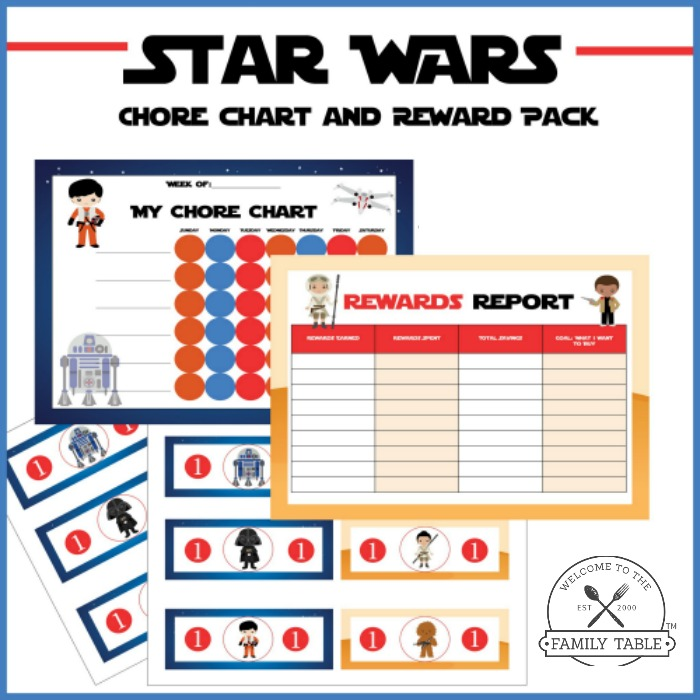 Free Star Wars Chore Chart  Reward Pack  Welcome To The Family Table