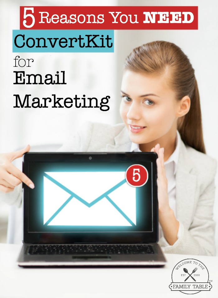 Are you a professional blogger looking for a great email marketing service? Come see 5 reasons you should be using ConvertKit for your email marketing!