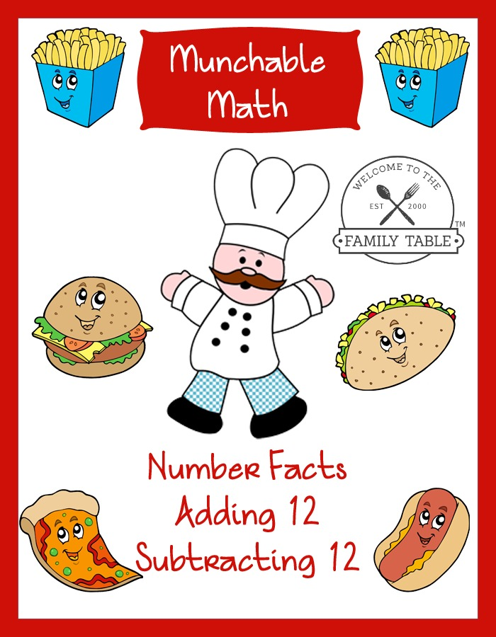 Make math time more fun with these Free Elementary Math Worksheets: Munchable Math-Fun Food.
