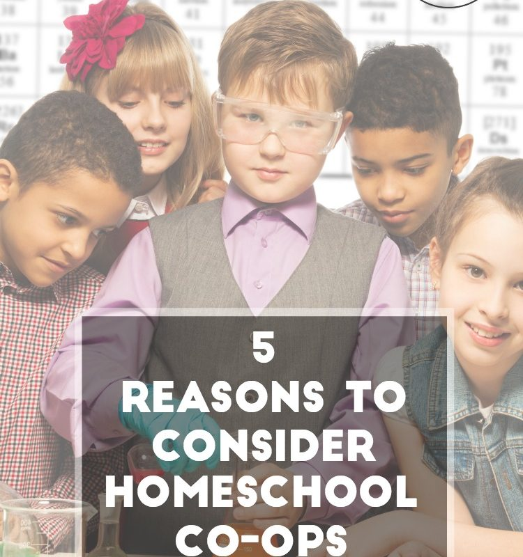 Are you thinking about joining a homeschool co-op? If so, here are 5 reasons to consider homeschool co-ops.