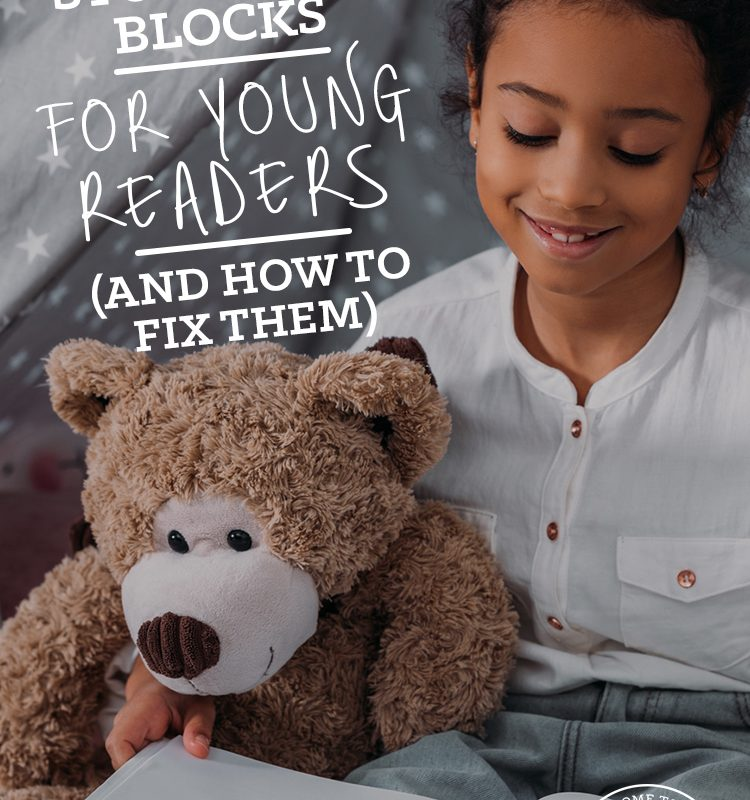 Do you have a struggling reader? Come see the 5 most common stumbling blocks for young readers and how you can fix them!