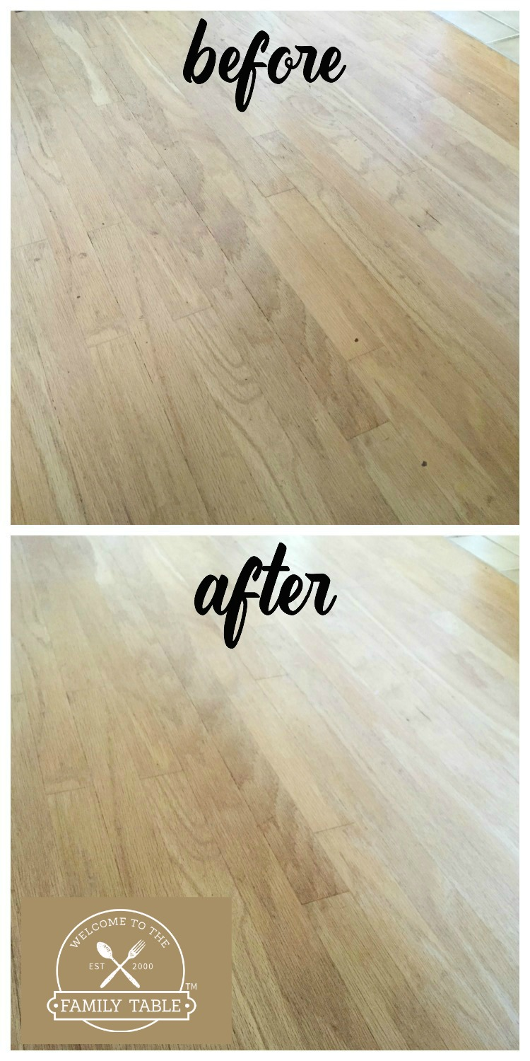 deep cleaning hardwood floors