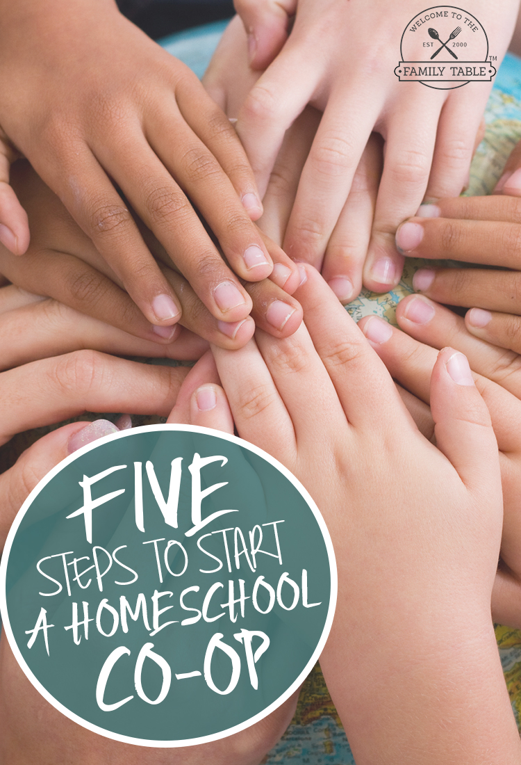 Are you thinking about starting a homeschool co-op? If so, come see the 5 steps to start a homeschool co-op from a veteran homeschooling mom.