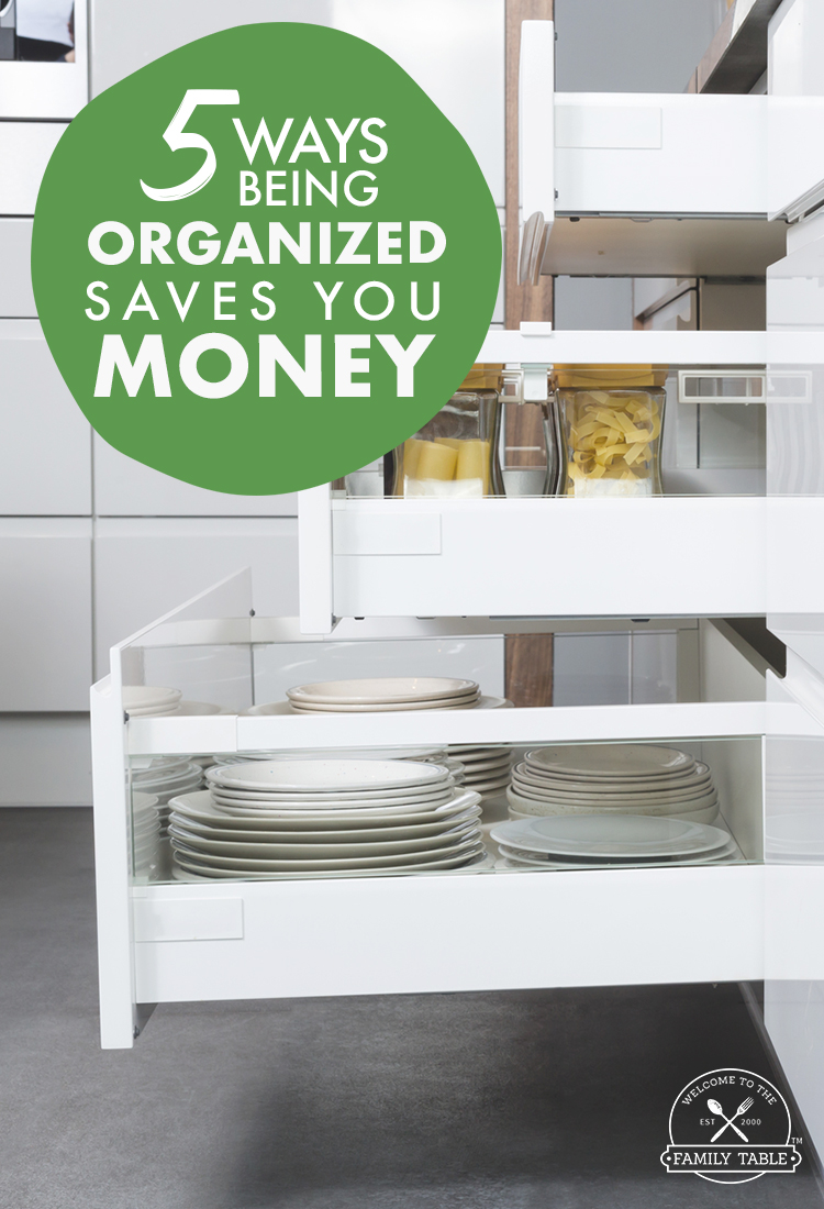 Are you looking to become more organized? Did you know that being organized saves you money?