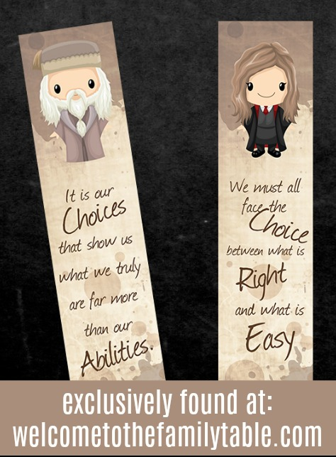 photo about Printable Harry Potter Bookmarks titled Printable Harry Potter Bookmarks + E-book Labels - Welcome toward