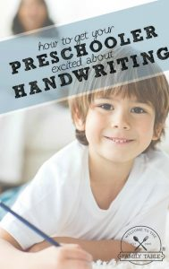 How to Get Your Preschooler Excited About Handwriting