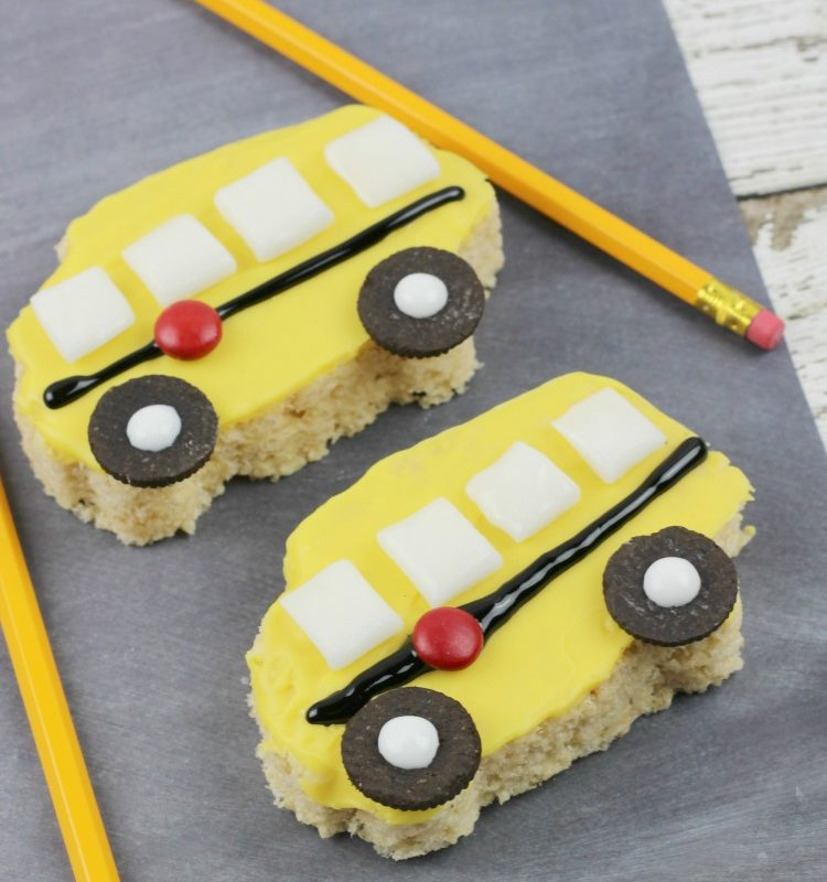 These school bus rice krispie treats are so much fun to make with the kids!
