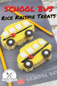 School Bus Rice Krispie Treats