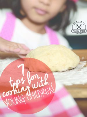 Come see these 7 tips for cooking with kids in the kitchen! :: welcometothefamilytable.com