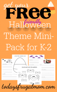 Grab your FREE friendly Halloween theme mini-pack for K-2.