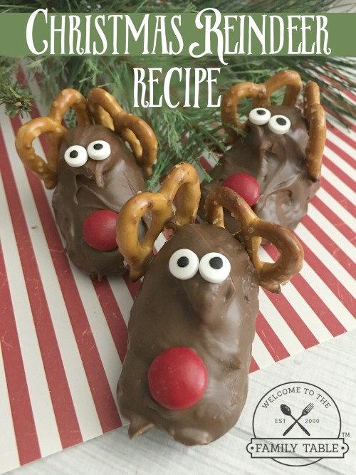 Come try these Christmas Reindeer as a fun and delicious family fun day! :: welcometothefamilytable.com