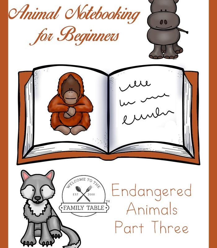 Animal Notebooking for Beginners – Endangered Animals, Pt. 3