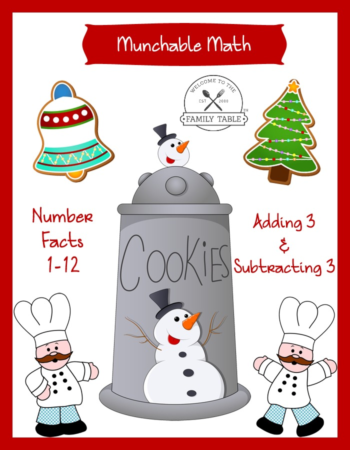 Free Elementary Math Worksheets: Munchable Math-Christmas Cookies