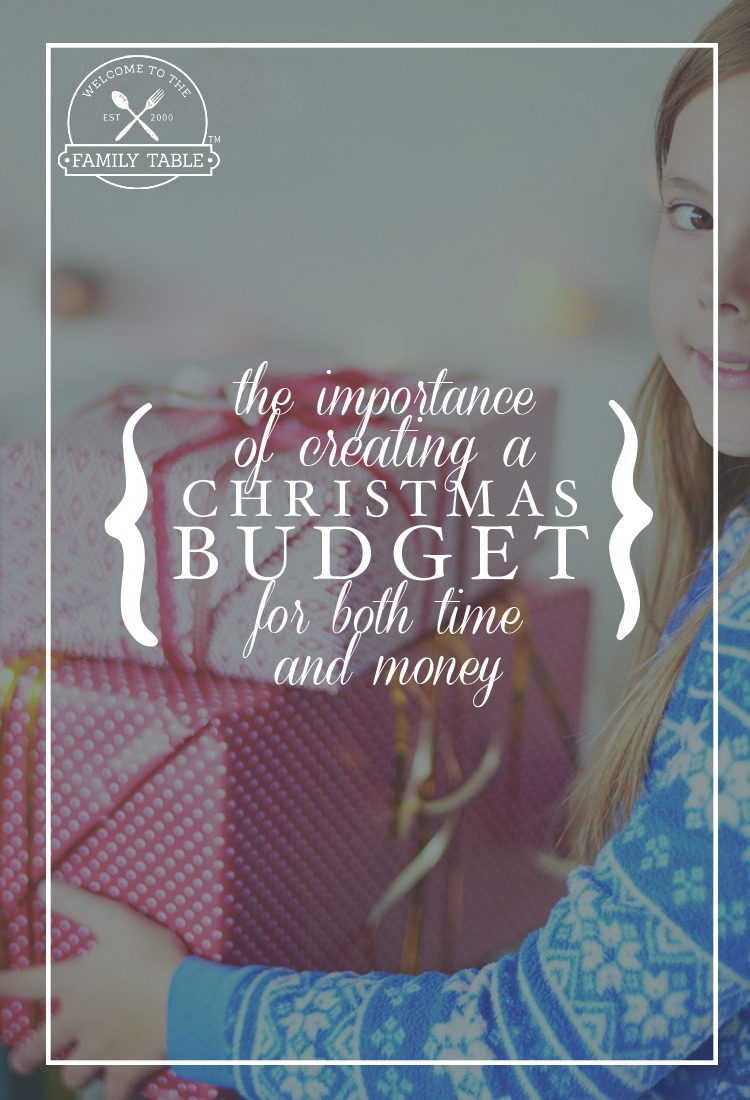 Creating a Christmas budget for time and money will not only help you accomplish your goals but will provide you with a peaceful holiday season!