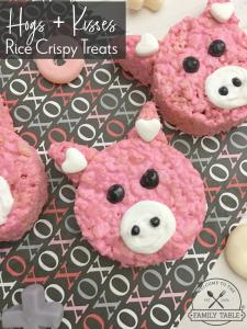 Hogs + Kisses Valentine's Day Rice Crispy Treat