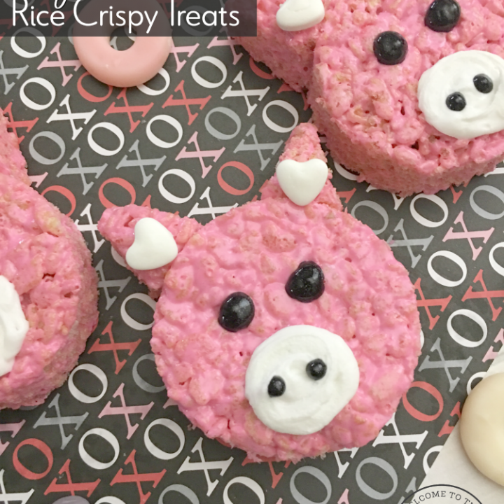Hogs + Kisses Valentine Rice Crispy Treats