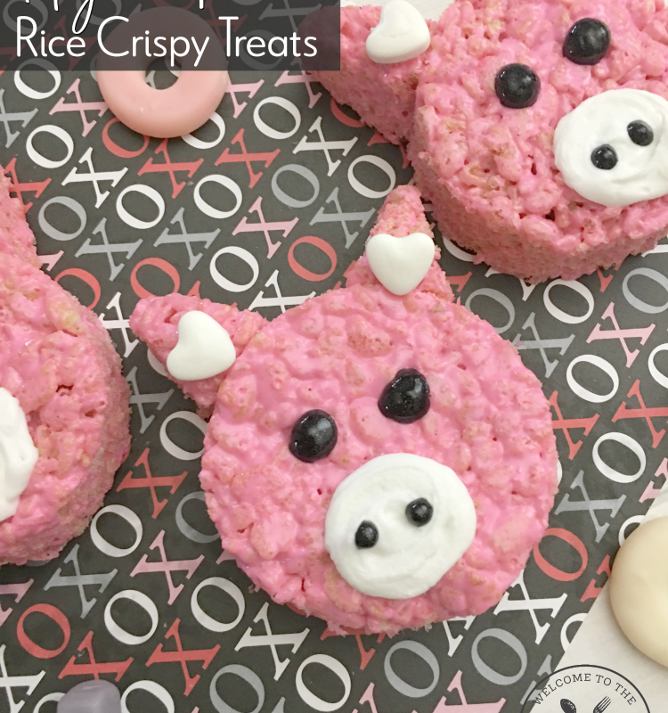 Hogs + Kisses Valentine's Day Rice Crispy Treat