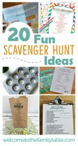 Looking for some fun scavenger hunt ideas for the family? If so, here are 20 to start you off!