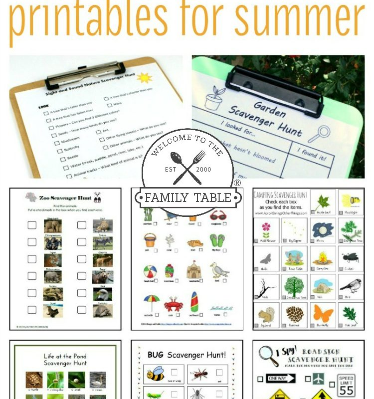 20 Scavenger Hunt Printables for Summer