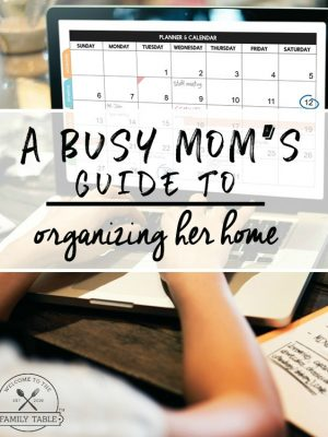 A Busy Mom's Guide to Oranizing Her Home