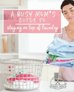 Are you tired of having laundry mountains in your home? I know the feeling. Come see how I stay on top of laundry in a A Busy Mom's Guide to Staying on Top of Laundry.