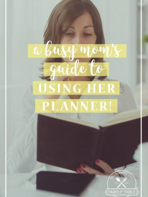 A Busy Mom's Guide to Using Her Planner