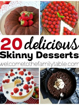 Looking for some great skinny dessert recipes? Come check out these 20 that we've gathered!