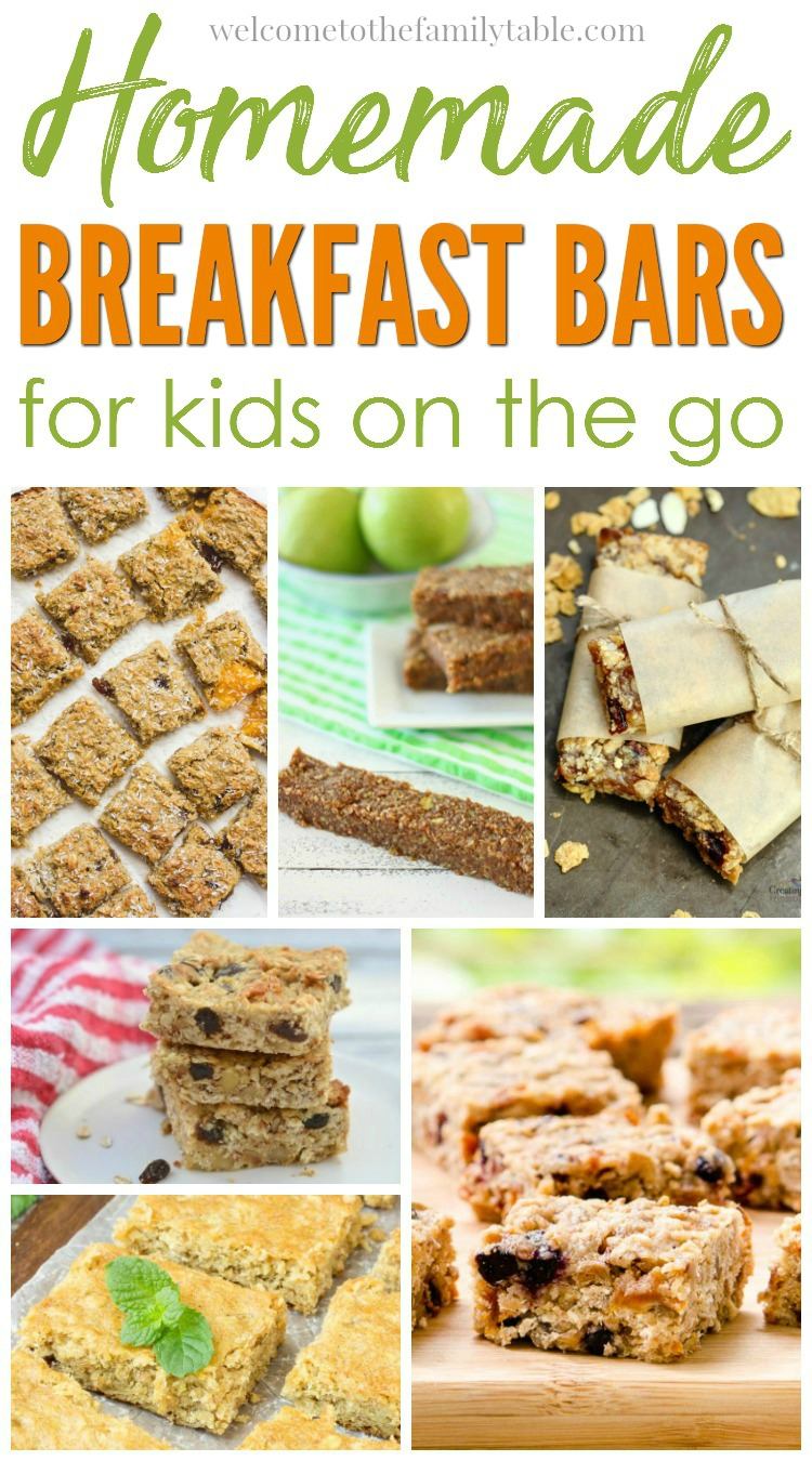 It is important to us that we have healthy snacks to grab when on the go. Come see these 20 homemade breakfast bars for kids on the go!