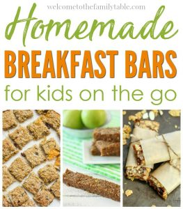 Homemade Breakfast Bars for Kids on the Go